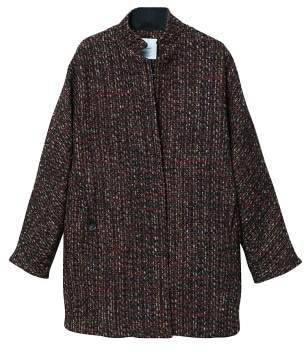 MANGO Flecked wool-blend coat
