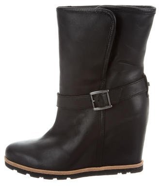 UGG Australia Ellecia Wedge Ankle Boots $125 thestylecure.com