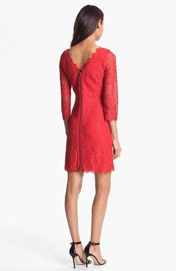 Diane von Furstenberg Women's 'Zarita' Lace Sheath Dress
