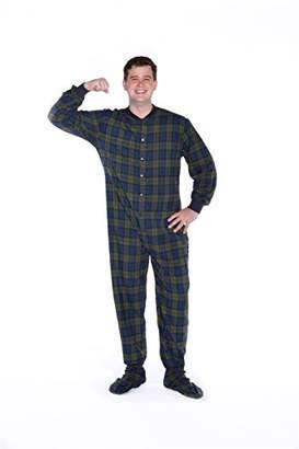 at Amazon Canada · Co Big Feet Pajama Navy green Plaid (Black Watch) Flannel  Adult Footed Pajama 354686adc