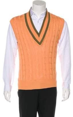 Gucci Vintage Cable-Knit Sweater Vest