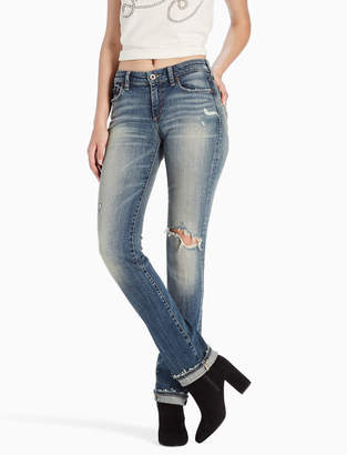 Lucky Brand SWEET MID RISE STRAIGHT LEG JEAN IN JAYTON DESTRUCTION
