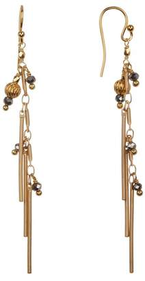 Chan Luu Tassel Drop Bead Earrings
