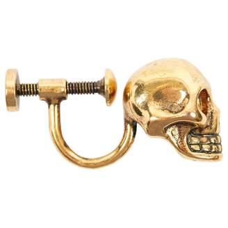 Alexander McQueen Gold Metal Earrings