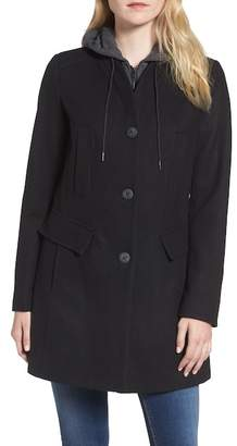 Andrew Marc Roxanne Wool 2-in-1 Car Coat