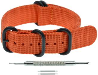 MZMY Men's ZULU Style Nylon NATO Watch Band Strap Replacement