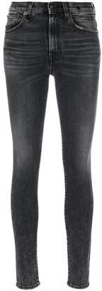 R 13 high rise skinny jeans