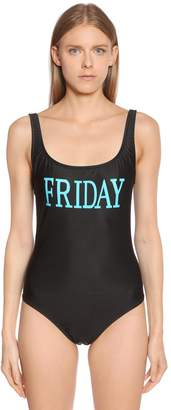 Alberta Ferretti Friday Lycra One Piece Swimsuit