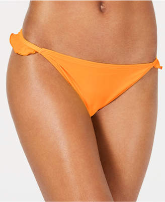 California Waves Solid Ruffle Side Hipster Bottoms