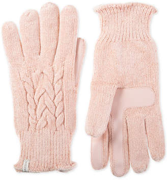 Isotoner Women's Touchscreen Chenille Cable-Knit Gloves