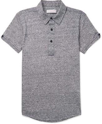 Orlebar Brown Sebastian Slim-Fit Mélange Linen-Jersey Polo Shirt