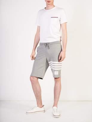 Thom Browne Engineered 4-bar stripe cashmere shell sweat shorts