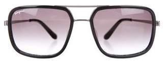 Salvatore Ferragamo Square Gradient Sunglasses