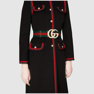 Gucci Elastic Web belt with Double G buckle