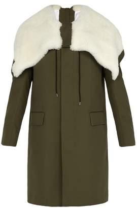 Calvin Klein 205w39nyc - Shearling Lined Hooded Parka - Mens - Khaki