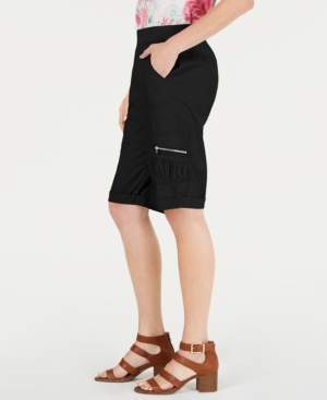Style&Co. Style & Co Pull-On Utility-Pocket Bermuda Shorts, Created for Macy's
