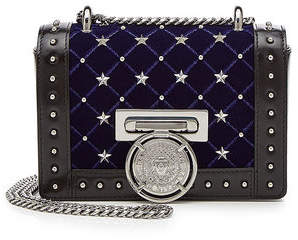 Balmain Bbox 20 Etoile Studded Leather Shoulder Bag with Suede