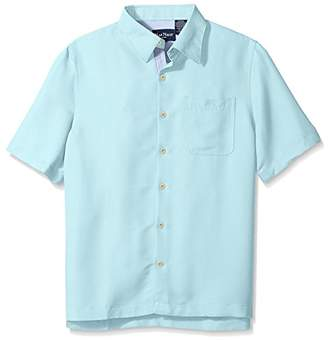 Nat Nast Men's Solid Short Sleeve Shirt