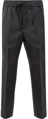 Gucci side stripe cropped trousers
