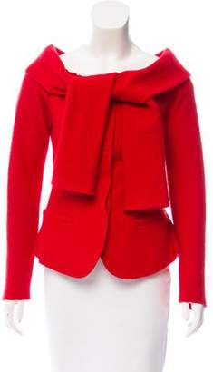 Nina Ricci Wool Tie-Accented Jacket