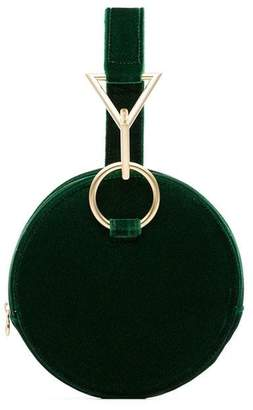 Tara Zadeh Azar round velvet buckle bag