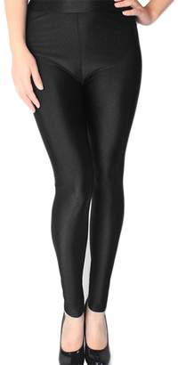 be3e1b0cb6620 at Amazon Canada · heaven2017 Women's Fashion Plus Size High Waisted Shiny  Soft Flexible Glossy Leggings