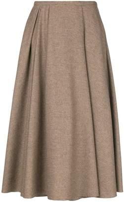 Rochas flared midi skirt