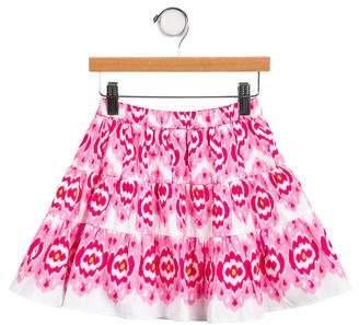 Oscar de la Renta Girls' Flared Abstract Skirt w/ Tags