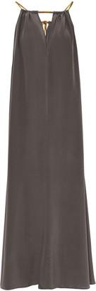 Eres Cinecitta Ornella Satin-trimmed Silk Maxi Dress
