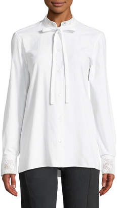 J.W.Anderson Lace-Collar Tie-Neck Button Front Blouse