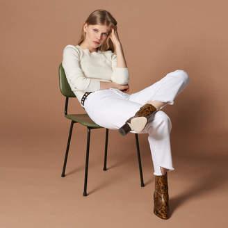Sandro High-waisted straight-cut jeans