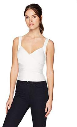 GUESS Women's Sleeveless Cropped Mirage Crossover Top