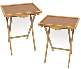 Lipper Bamboo Lipped Snack Table