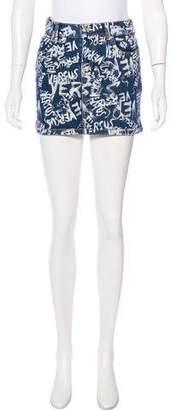 Versus Denim Mini Skirt