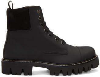 Marc Jacobs Black Lace-Up Boots