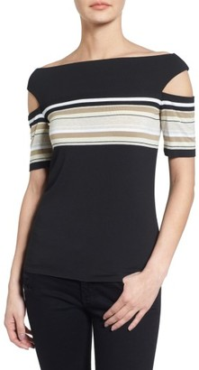 Women's Bailey 44 Stripe Off The Shoulder Top $138 thestylecure.com