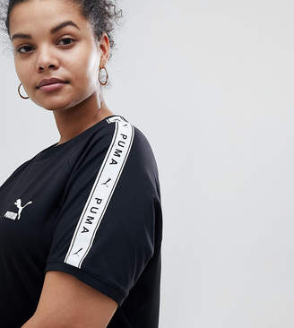 Puma Exclusive To ASOS Plus T-Shirt With Taped Side Stripe In Black
