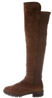 Stuart Weitzman Suede 50/50 Over-The-Knee Boots