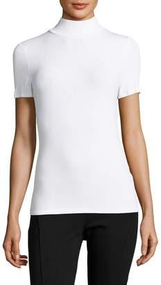 Three Dots Women's Turtleneck Solid Sweater