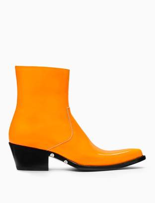Calvin Klein western ankle boot in patent leather