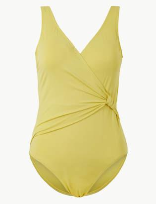 f4bb3280f70 Marks and Spencer Secret Slimming Padded Plunge Swimsuit