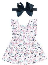 RuffleButts Berry Sweet Dress & Head Wrap Set
