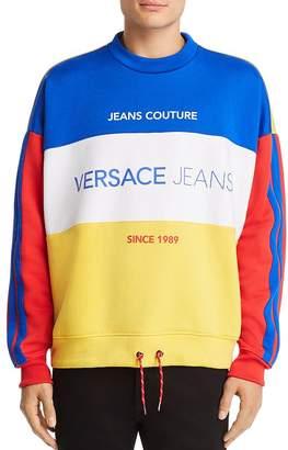 Versace Logo-Print Color-Block Sweatshirt