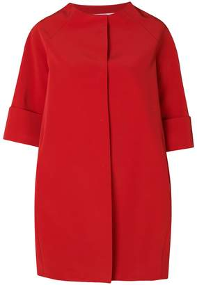 Gianluca Capannolo cropped sleeve cocoon coat