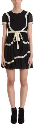 RED Valentino Long Sleeve Cady Tech Fitted Dress
