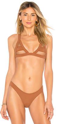 Minimale Animale The Bandit Rib Bikini Top