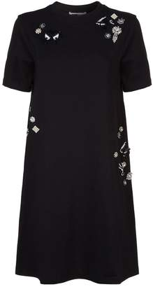 McQ Embellished T-Shirt Dress