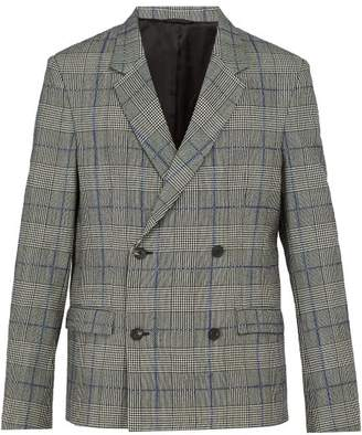 Joseph - Charles Prince Of Wales Checked Wool Blazer - Mens - Charcoal