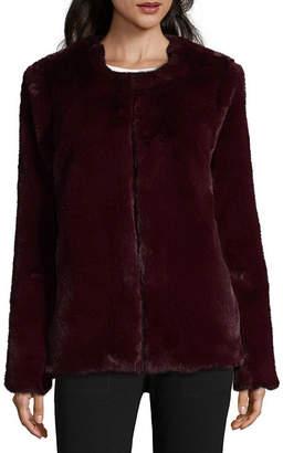 Liz Claiborne Faux Fur Heavyweight Faux Fur Coat