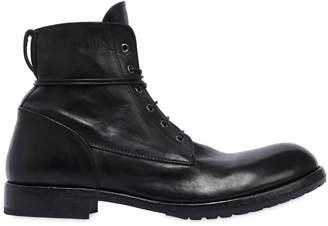 Moma Lace-Up Leather Combat Boots